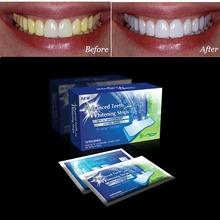 28 pcs Teeth Whitening Strips Oral Hygiene Dental Care Bleaching 6% Hydrogen Peroxide Gel Tooth Whiter Strips(China (Mainland))