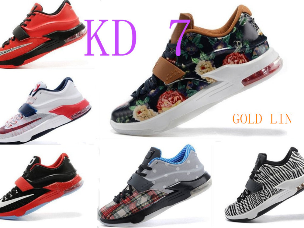Free shippingcheap Top quality 2015 Kevins DurantS VII man KDs 7 basketball shoes fashion elite athletic 6 shoes size:7-12(China (Mainland))