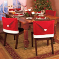 2016 1 PCS Christmas Chair Cover Non woven Enfeites Para Casa Dinner Table Covers Navidad Xmas