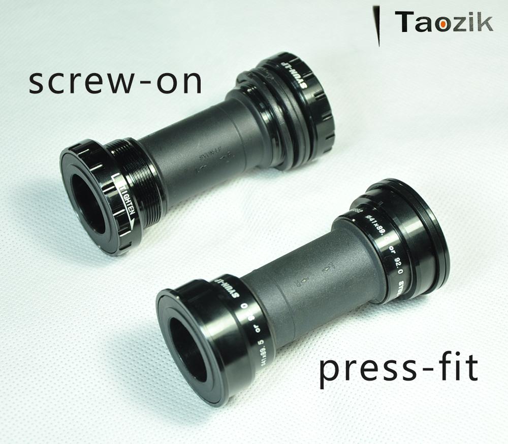 Taozik original BB91/92 sealed bearing hollow fit press MTB road middle axis bicycle bottom bracket(China (Mainland))