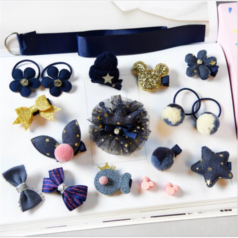18 шт. милые головные уборы для маленьких детей заколки волос волосы аксессуары