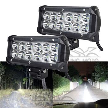 Pair Universal 7 Inch 36W 6000K LED Day Light Running Work Light Bar for Motorcycle Car Boat Marine ATV Off Road Motocross