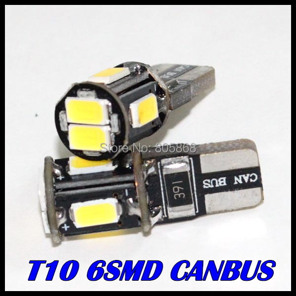 Hot Sale External Lights 10x Error Free T10 Canbus Led w5w canbus led 194 5630 5730