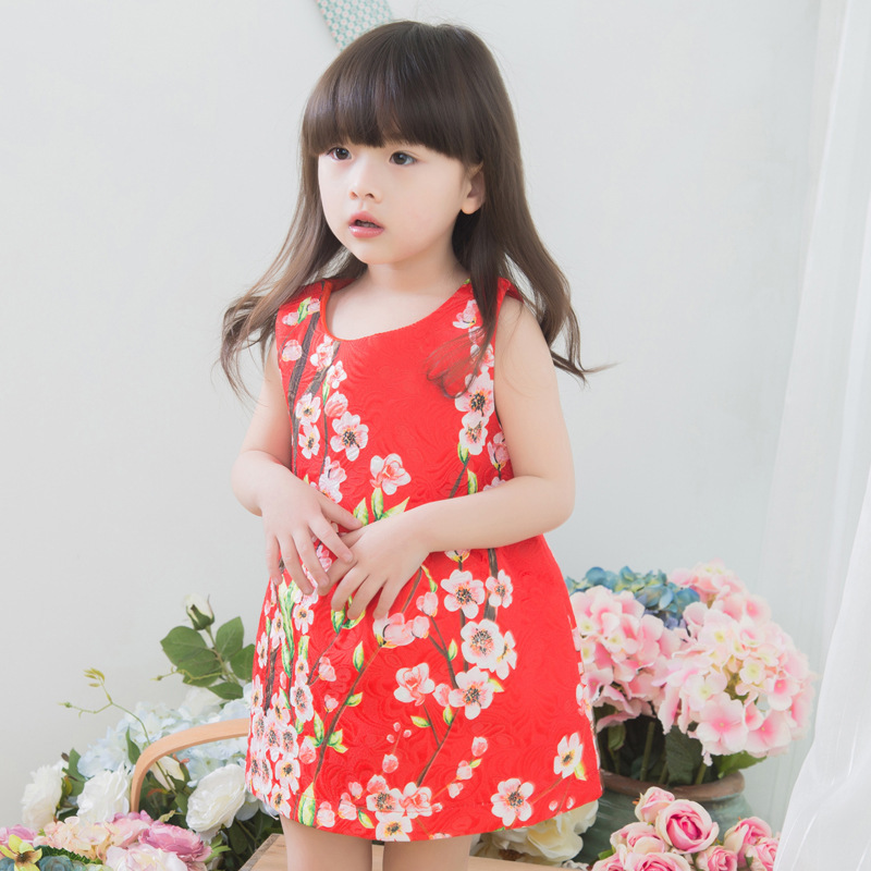 2015 Limited High Quality Exquisite Kids Clothing Luxury Child Clothes Top Designer Girl Dress Flower Summer Dresses Costumes(China (Mainland))