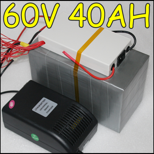 60V 40AH LiFePO4 Electric bike Battery with BMS, Charger ,Electric Bicycle 2000W POWER battery FREE SHIPPING 2015096040(China (Mainland))