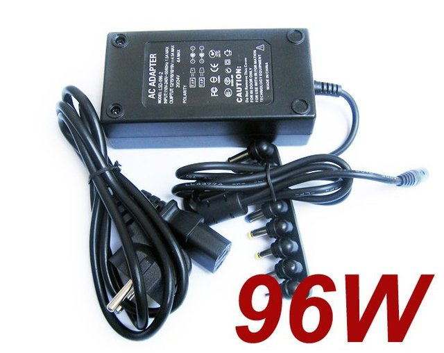 96W Universal Laptop Notebook AC Charger Power Adapter with plug- Free shipping
