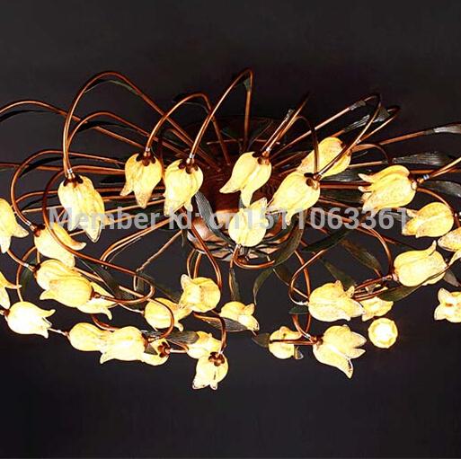Europe Luxury Hotel Hall Glass Flowers Ceiling Light Modern Fashion Living Room Light L115m H35cm<br><br>Aliexpress