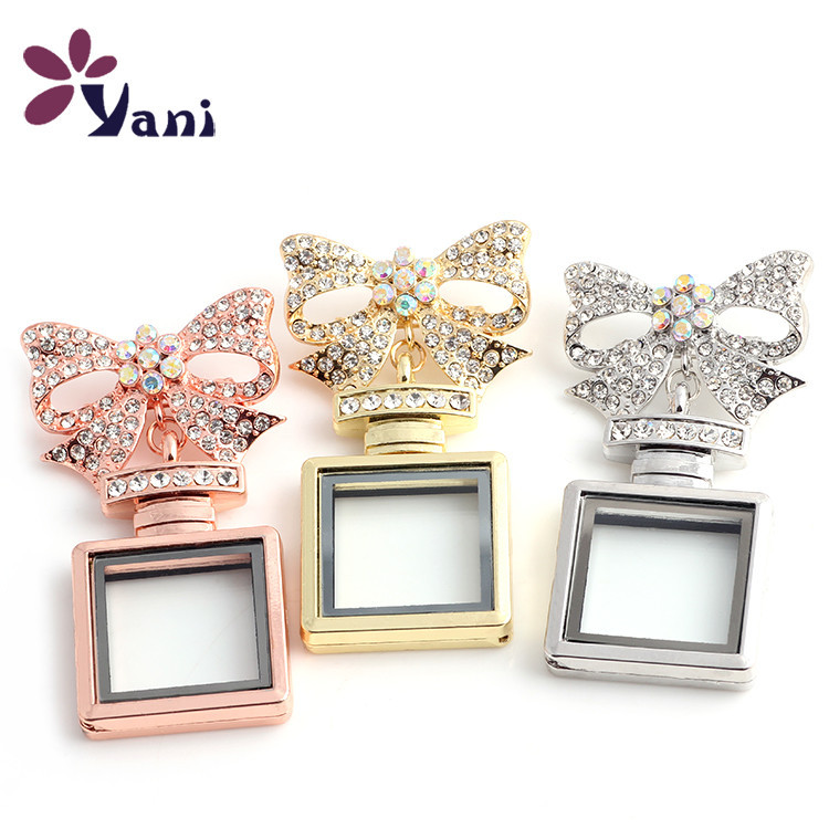 10pcs/lot Rhinestone Perfume Bottles Locket Brooch Butterfly Brooch Pin Jewelry Women(China (Mainland))