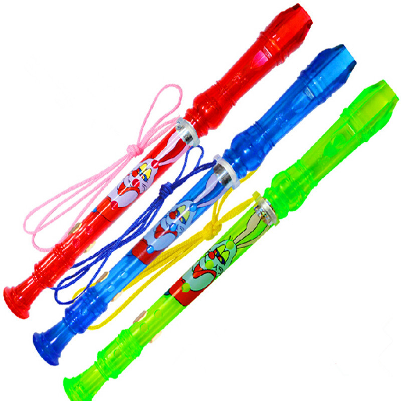Plastic Toy Musical Instruments : Plastic flute high pitched voice holes c