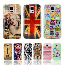 """Fashion Soft TPU Silicone Case Owl Tower Flag Soft Plastic Cover For Samsung Galaxy S5 SV I9600 G900S G900F 5.1"""" Cell Phone Case(China (Mainland))"""