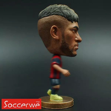 "Soccer Barca FC Neymar 2.5"" Toy Doll Figure Shipping free Best gift(China (Mainland))"