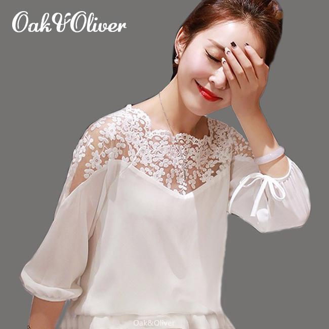 купить Женские блузки и Рубашки Oak&Oliver 2015 Blusa Blusas Femininas по цене 1062 рублей
