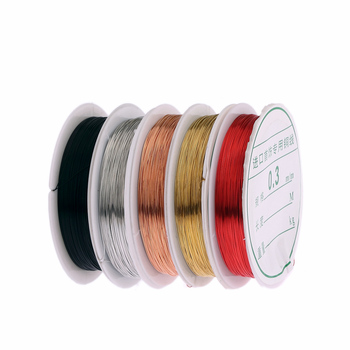 0.3mm red gold silver colors metallic thread string beads rope beading craft wire fit Jewelry Marking DIY Essential Jewelry Cord
