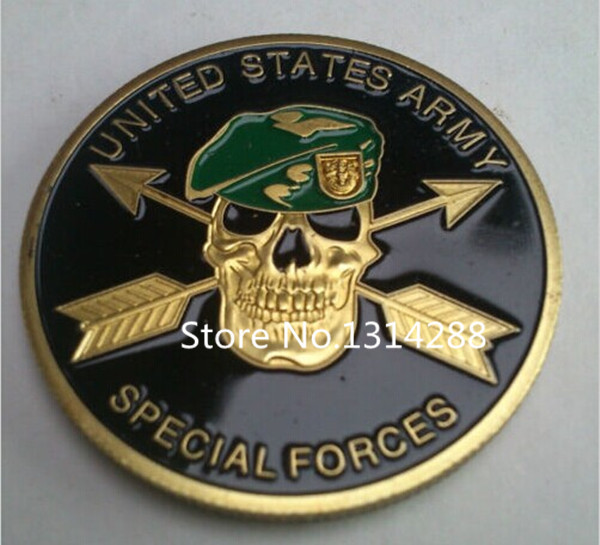 US. Army Special Force 24K GP Challenge Coin,5pcs/lot Free shipping(China (Mainland))