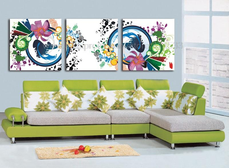 Color flowers reproduction 3 set print on canvas discount discount music wall decor wall decor - Sullivans wholesale home decor set ...