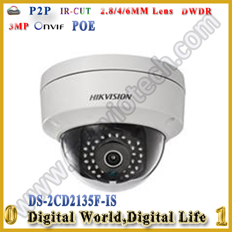 Hikvision 3MP IP cam DS-2CD3132-I Replace old DS-2cd2132F-IS Dome IP Camera POE Onvif 1080P Network camera<br><br>Aliexpress