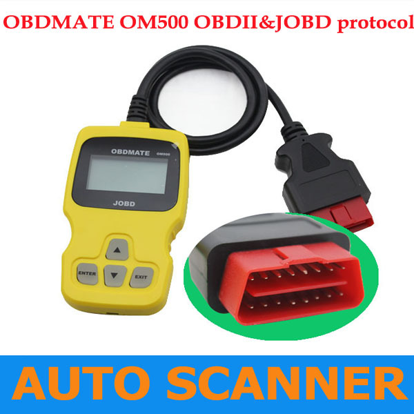 2013 Powerful Car Code Scanner OBDMATE OM500 JOBD/OBDII/EOBD Code Reader of High Quality with free shipping(China (Mainland))