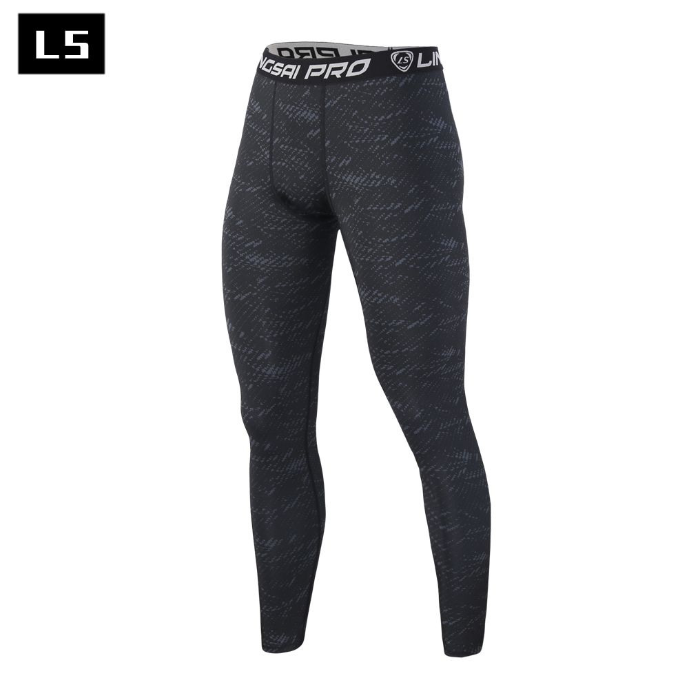LINGSAI Brand Clothing 2017 Apparel Male Compression Tights Pants Trousers Sweatpants In Stock Free shipping(China (Mainland))