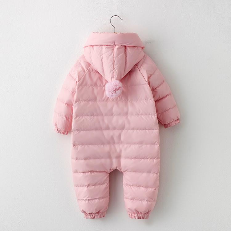 Скидки на Ребенка детский зимний комбинезон 2016 новый младенческая мальчик в девочке зимние верхняя одежда наряды с капюшоном тепловой новорожденный комбинезон снег износ детская одежда