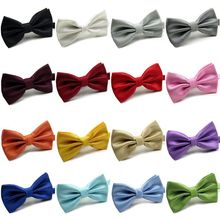 CHEAP! 16 Colors Solid Fashion Bow Ties For Men Grooms 1pcs Bowties Wedding Marriage Butterflies Cravat Brand(China (Mainland))