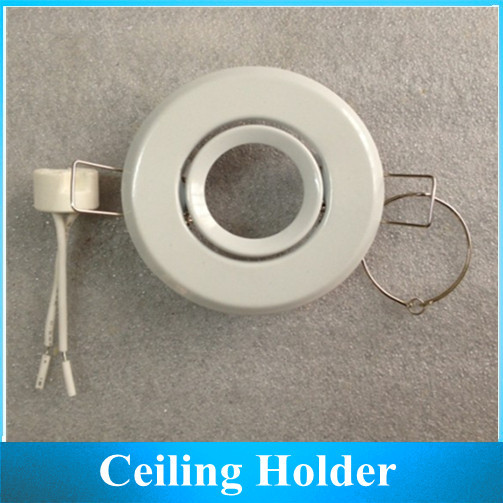 Ceiling Light Bracket MR11 Holder Socket lamp cup fixtures lampshades white D70MMX Hole 45MM 2