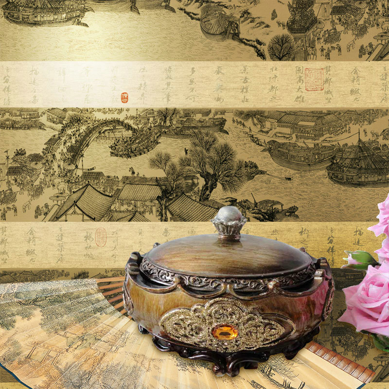 Chinese style painting wallpaper classical calligraphy and for Chinese mural wallpaper