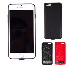 On Sale 2000mah Power Bank Battery Case Charger Cover For iPhone 6/6S 4.7″ Black/Red