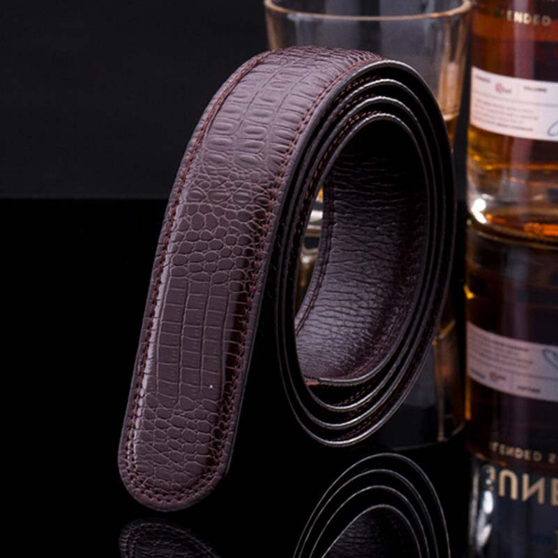 Men Women automatically belt cowhide strap belts Crocodile skin grain cow leather belt men s auto