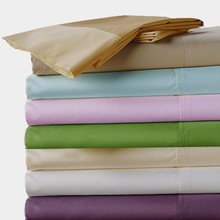 100%  Egyptian cotton 600 TC Fitted Flat  style bedding sheets 4 pcs set King Queen size brown purple blue white color customize(China (Mainland))