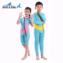 Thermal 2.5mm Neoprene Kids Wetsuit Dive Wet Suit Child Swimwear One-piece Short Or Long Sleeved Sunscreen Warm Clothing(China (Mainland))