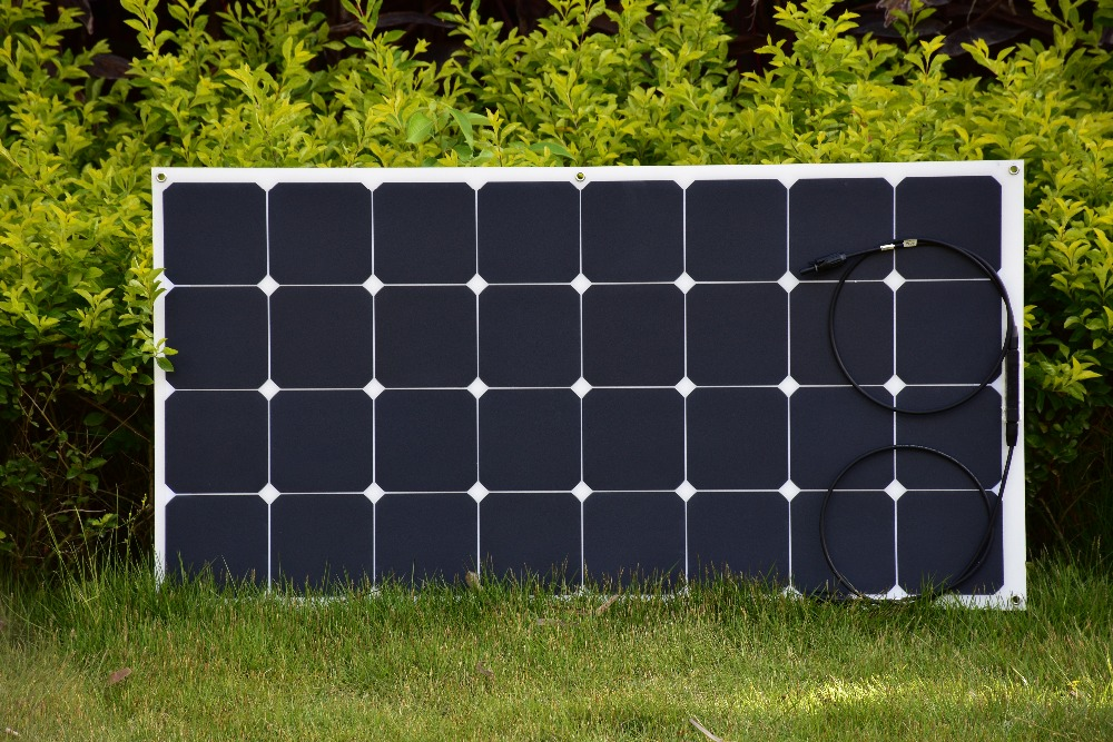 100w frosted PET laminated surface panel solar provide for 12v battery, laminated with 32pcs USA Sunpower C60 solar cells(China (Mainland))