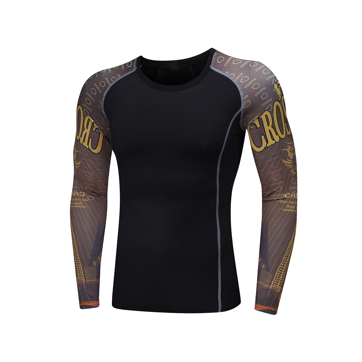 Weight Lifting Men s Compression Tights T Shirt Jersey Fitness Long Sleeve Moisture Wicking Quick drying T shirt(China (Mainland))