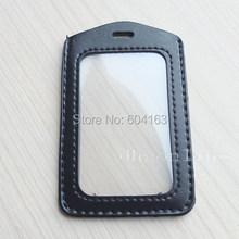 Lot 12 Card Badge Holder ID for YOYO Reel Strap Lanyard Business Clear black(China (Mainland))