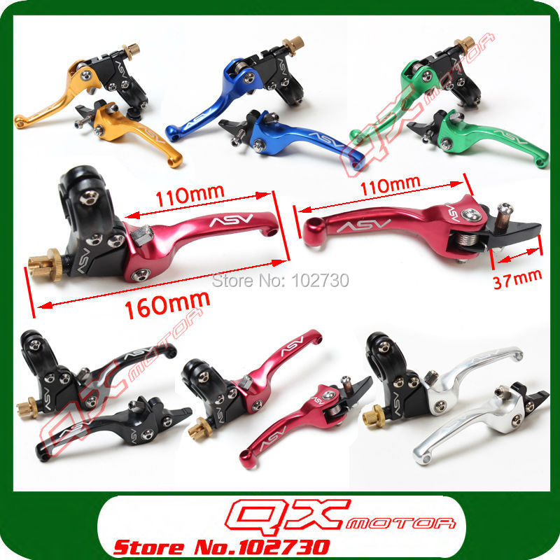 6 colour Aluminum ASV Clutch and Brake Folding Lever Fit Most Of Motorcycle Dirt Pit Bike Motorcross spare parts Free Shipping!<br><br>Aliexpress