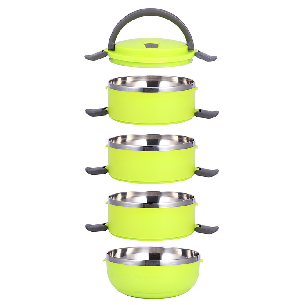 1Pc Stainless Steel Bento Food Container with Handle