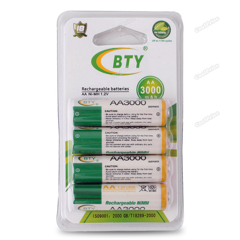 Latest Style coolprice High Quanlity 8pcs/set BTY 1.2V 3000mAh AA Ni-MH Rechargeable Battery Save up to 50% Brand New(China (Mainland))