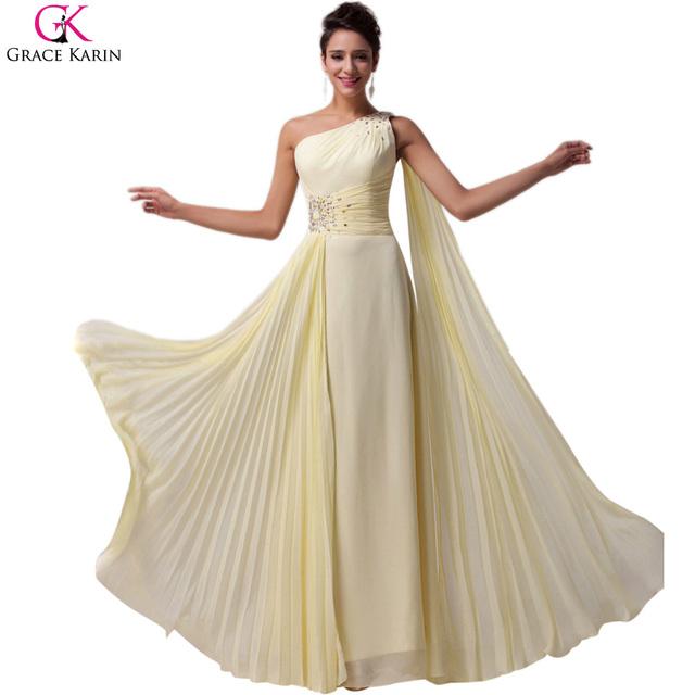 Элегантный одно плечо вечерние платья 2016 халаты де вечер Длинныйué грейс ...