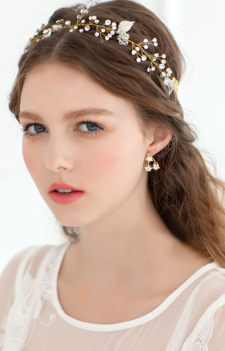 2015 wedding headpiece cheap pearl jewelry fashion gold