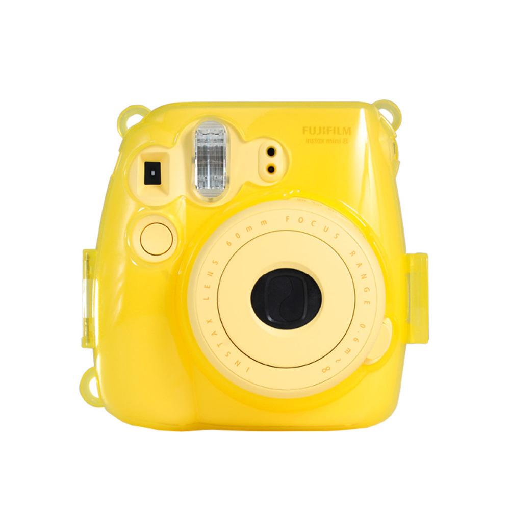 yellow 1pc cute new plastic protect case for fujifilm fuji. Black Bedroom Furniture Sets. Home Design Ideas