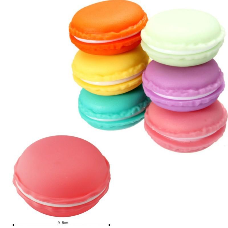 10PCS Bulk 9CM Candy Color Fashion Macarons Storage Box Jewelry Boxs Gift Earring Necklace Zakka Organizer Wedding Favour(China (Mainland))
