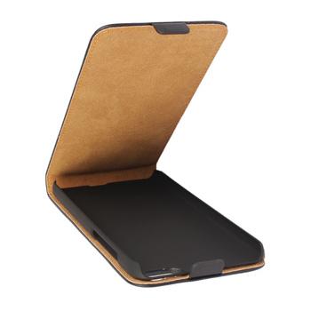 Etui z klapką do Huawei Honor 4X skóra PU czarne