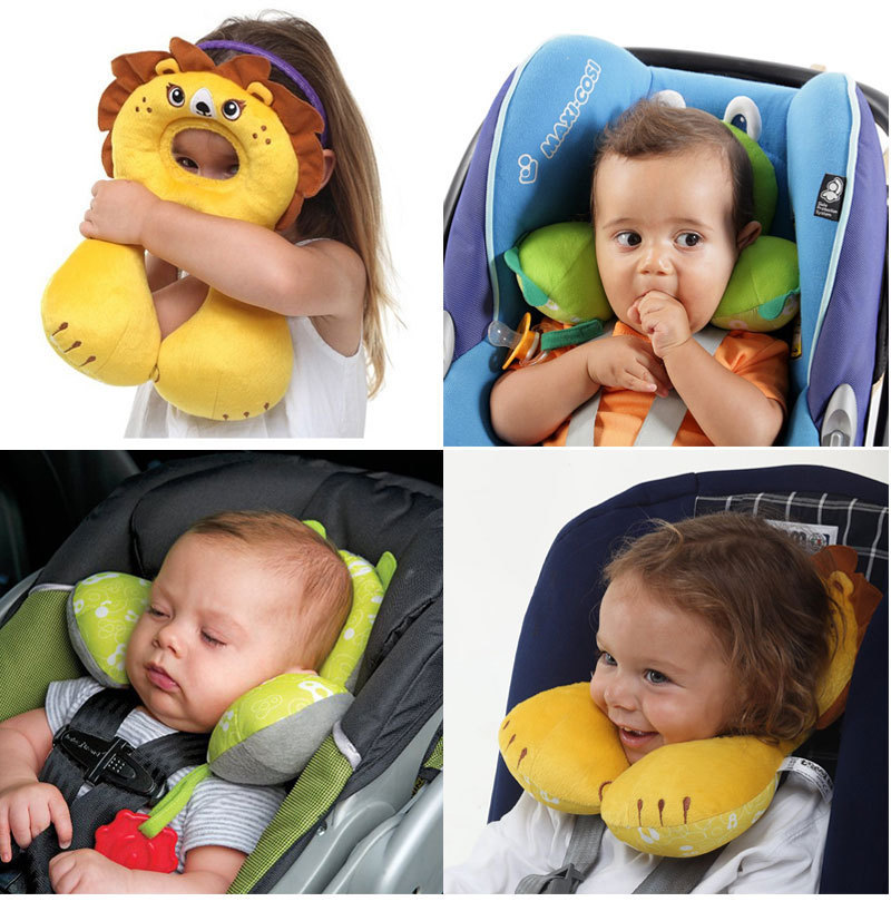 useful car headrest for children baby protection cushion head neck rest pillow for car baby. Black Bedroom Furniture Sets. Home Design Ideas