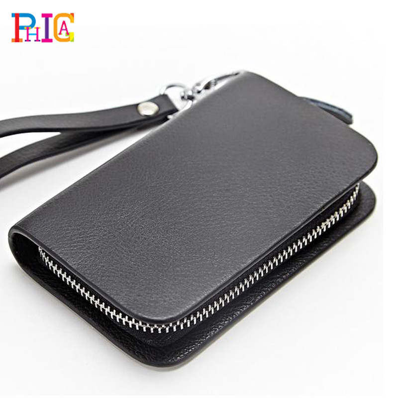 Key Wallets Women Men Cow Leather Keychain Holder Bag Purse Case Multichoice Color - Phica store