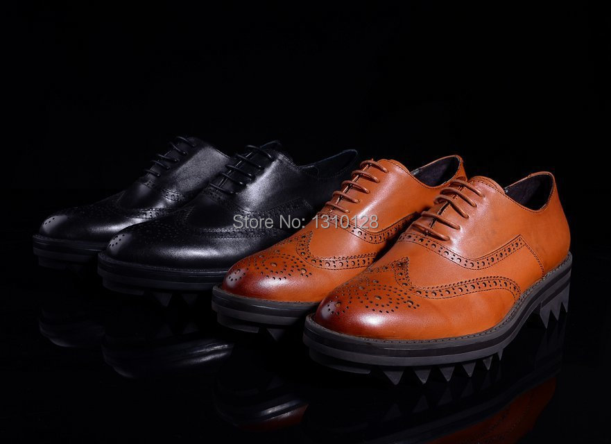 Famous Luxury Brand Men Genuine Leather Business Shoes high quality Men Shoes Spring and Autumn New Style Fashion party Shoes(China (Mainland))