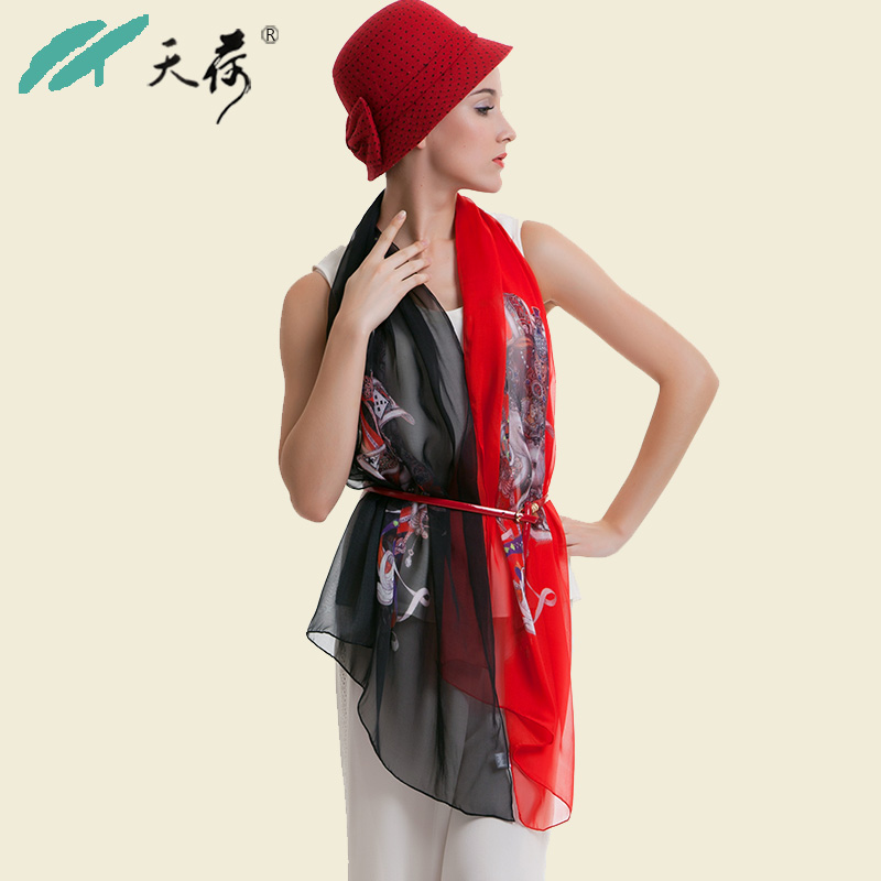 100%pure Silk scarf new 2014 brand women mulberry silk scarves girls large long fashion quality silk shawls pashmina 185*70cm(China (Mainland))