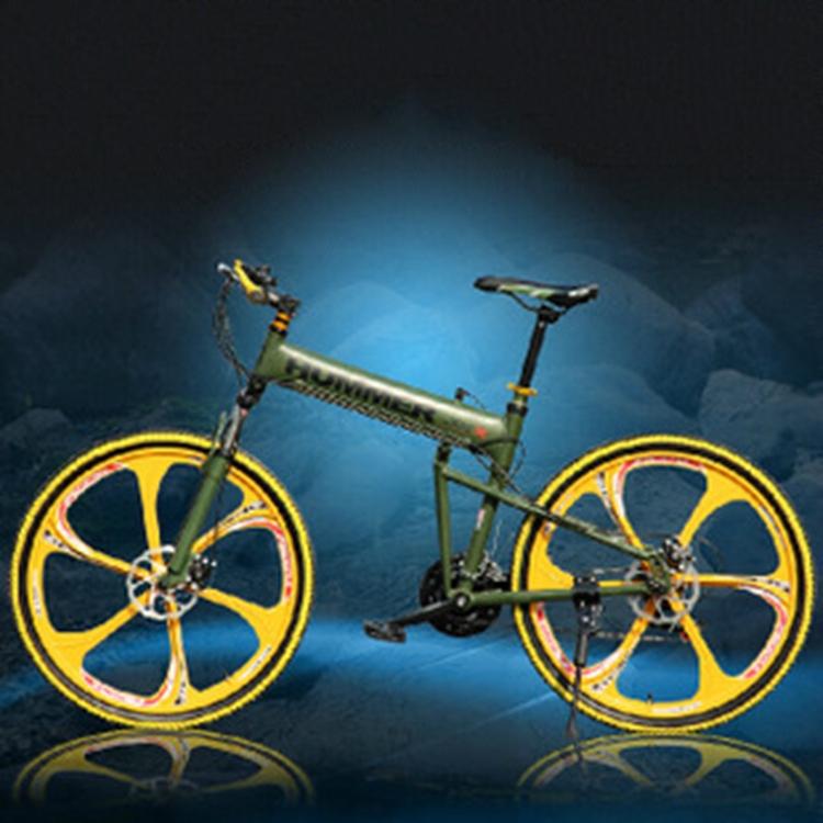 2015 Hot Sale Mountain Bike 26 Inch Shock All Round Mountain Bike Dual Disc Brake Aluminum Alloy Folding Bike(China (Mainland))