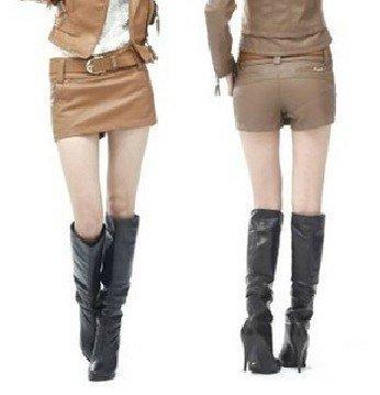 Korean PU leather women dress lederhosen