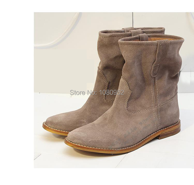 Model Joie Womens Light Brown Whipstitch Leather Journey Flat Boots