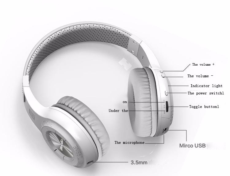 Bluedio HT Wireless Bluetooth 4.1 Stereo headset Headphones built-in Mic handsfree for calls and music Headphones