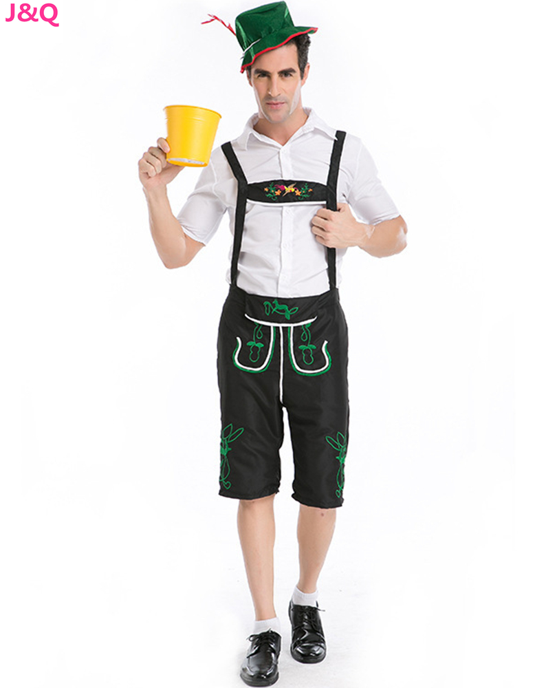 S - XXL New Halloween Masquerade Cosplay Clothing British Men's Trousers Oktoberfest Farmer Workers Beer Man Costumes H167158 Professional Co.,Ltd store